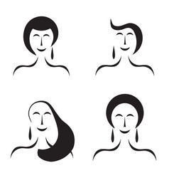 four women figures - fashion beauty concept vector image