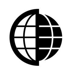 Globe earth planet graphic vector