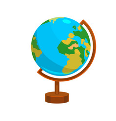 globe in cartoon style vector image