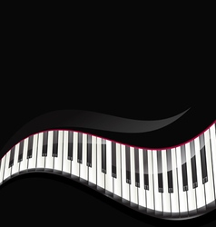 Grand piano keys vector