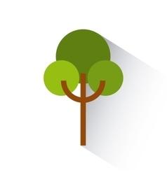 green tree icon vector image