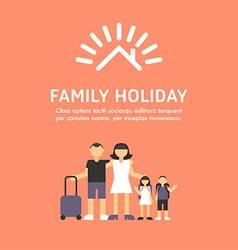 Happy Family Travel Parents with Children Father vector image