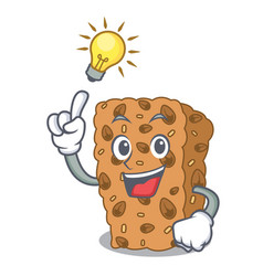 Have an idea granola bar mascot cartoon vector