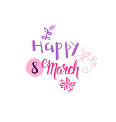holiday tag happy 8 march concept woman day badge vector image