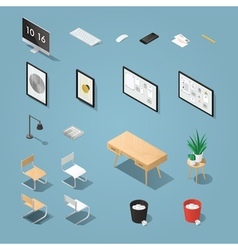 Isometric funiture set 2 vector image