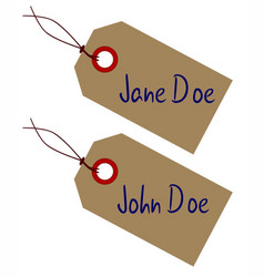 Jane and john doe tags vector