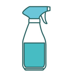 Laundry product in splash bottle vector