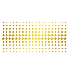 Lier gold halftone pattern vector