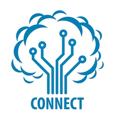 Logo to connect to the network tree vector