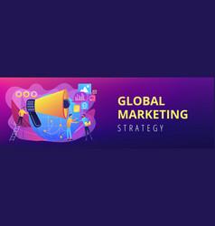 Macromarketing concept banner header vector