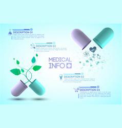 Medical info poster vector