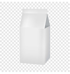milk or juice carton box mockup realistic style vector image