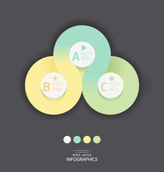 Modern Circle Design soft color template vector image