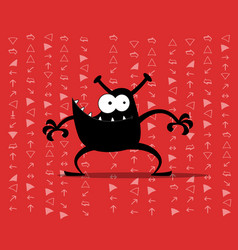 monster computer virus vector image