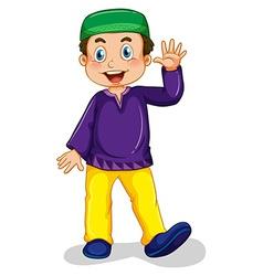 Muslim boy vector image