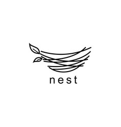 nest logo design symbol templa vector image