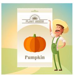 pack of pumpkin seeds vector image