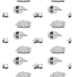 patterns on white background vector image