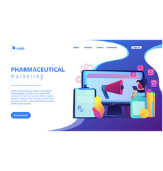 pharmaceutical marketing concept landing page vector image
