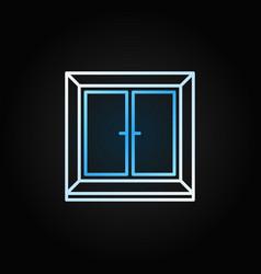 plastic window bright icon in thin line vector image