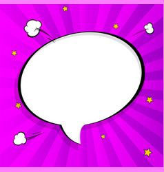 pop art chat bubble in comics book style blank vector image
