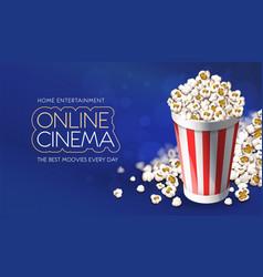 popcorn in paper bucket vector image