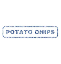 Potato chips textile stamp vector