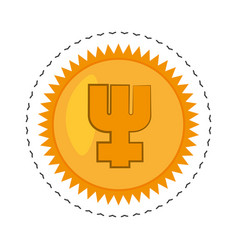 Primecoin money golden commerce vector