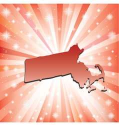 Red Massachusetts vector