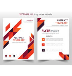 Red orange abstract triangle annual report vector