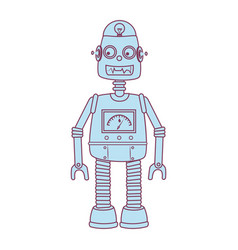 robot kids toy isolated icon vector image