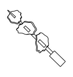 Rodizio bbq meat vector
