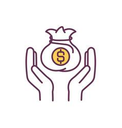 Saving budget measures rgb color icon vector