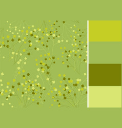seamless pattern with greenery floral vector image