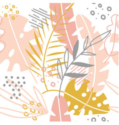 Seamless tropical abstract hand drawn brushstroke vector