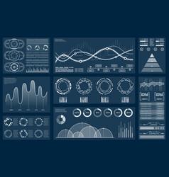 set element for futuristic design interactive vector image
