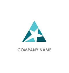 star triangle logo vector image