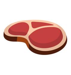 tasty steak icon flat style vector image