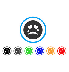 Tiers smiley icon vector