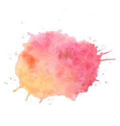 watercolor paint blob text box isolated vector image