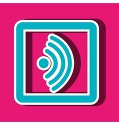 wifi signal icon design vector image