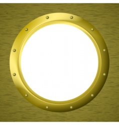 Window porthole in a wall vector