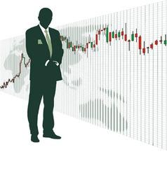 World stock exchange vector