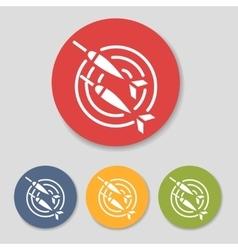 Flat dart icons set vector image