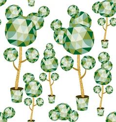 garden from polygonal trees vector image vector image