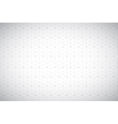 Geometric pattern with connected line and dots vector image vector image