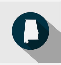 map of the us state alabama vector image vector image