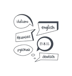 Speech Bubbles With Different Languages Texts vector image vector image