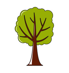 tree icon in cartoon style vector image