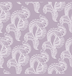 abstract pattern with lace stylized objects vector image